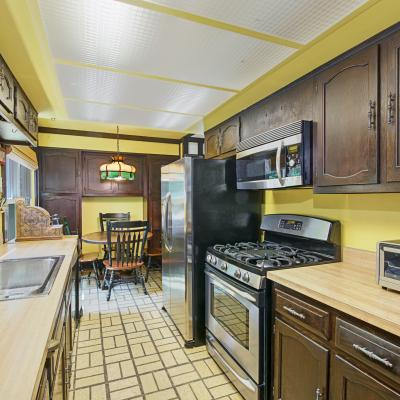 Kitchen of 4 Bedroom Dream Home on a Corner Lot in Staten Island New York Awaits You