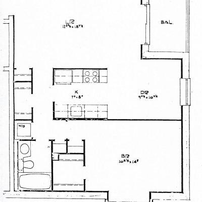 Floor map of Condo for Sale -- Elmwood Park Drive Staten Island New York