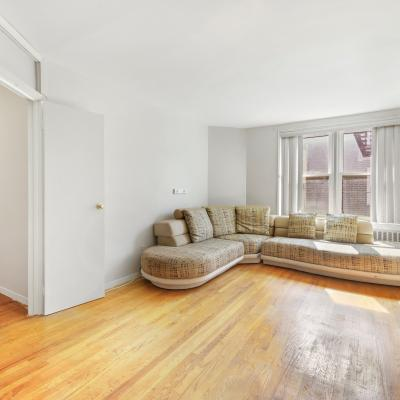 Living room in apartment for sale in St. George Staten Island New York