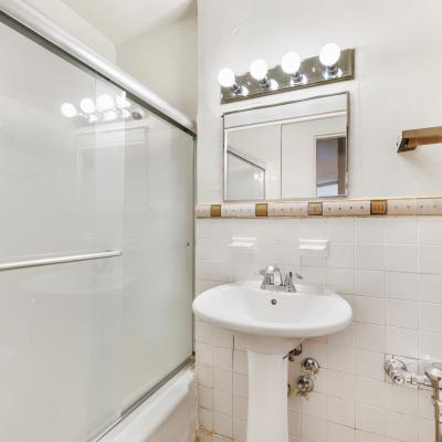 Bathroom in apartment for sale in St. George Staten Island New York