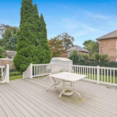 Deck of Handsome ''American Foursquare'' Colonial for sale -- Staten Island, New York