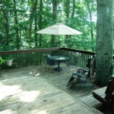 Deck- Half Acre Country Setting for sale - High Rock - Staten Island New York